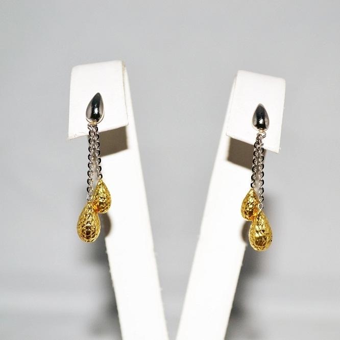 Orecchini in oro bianco e giallo